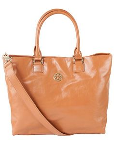 Tory Burch Leather Dena Tote - Luggage Tory Burch http://www.amazon.com/dp/B00MH8NFXC/ref=cm_sw_r_pi_dp_wYQwub0FAMMVV Visit us @  http://stores.ebay.com/Trends-In-Bags