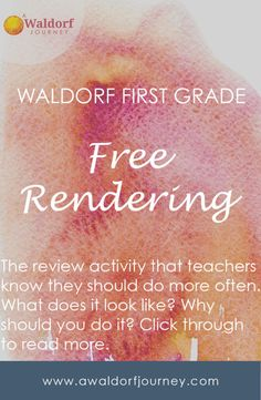 My students love free-rendering! It can take a little planning and patience for some creative chaos, but we've had so much fun every time we try it! Waldorf Free-Rendering http://www.awaldorfjourney.com/2017/11/waldorf-free-rendering/