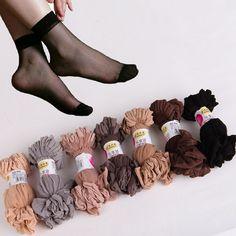 4.98$ (Buy here: http://alipromo.com/redirect/product/olggsvsyvirrjo72hvdqvl2ak2td7iz7/2047130081/en ) summer sexy ultrathin transparent crystal silk socks for women high elastic black nylon short socks female socks 20pairs/lot for just 4.98$