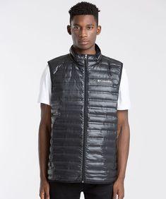 Columbia Flash Forward Down Gilet - Black Mens Columbia Gilets - Columbia Clothing R96n7845