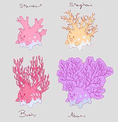 """puhoi: """" Pokémon Variations ↳ Corsola """""""