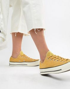 cheap for discount 61970 b62ae Converse Chuck 70 Base Camp ox suede yellow sneakers