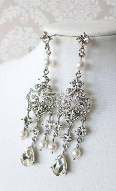 Clarise Wedding Bridal Earrings Vintage Hollywood