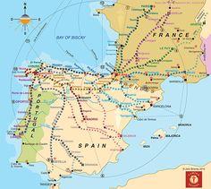 En 1987, l'Union européenne a déclaré que la Camino de Santiago est le premier itinéraire culturel européen. Bien qu'à l'origine il est connu comme un pèlerinage chrétien, le Camino attire maintenant les gens de toutes confessions et origines (les athées, les bouddhistes, les aventuriers de deuil, les étudiants, des amis retraités.)