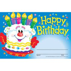 Free these are birthday certificates for any teacher to give to birthday certificate yadclub Choice Image