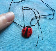 Sew in Love: Tutorials[stumpwork ladybird/bug