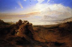 John Martin England) Dramatic landscapes 2 John Martin was an English Romantic painter and one of the most popular artists of his day. Alfred Stevens, August Sander, Albert Bierstadt, Alphonse Mucha, Most Popular Artists, Great Artists, Plagues Of Egypt, English Romantic, Invitations