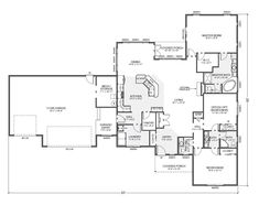 Rambler House Plans with Basements Legendary Model 3 bedroom