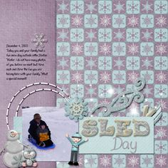 Layout created by Kristal using Jack Frost by Wendy Tunison Designs