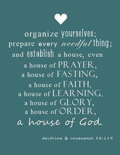"FREE Mormon LDS Scripture Printable  D&C 88:119: ""A house of God."" www.macdonaldsplayland.blogspot.com"