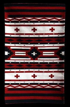 Navajo Red & White Chief Rug - Marlene White (#1) - Product Archives - Twin Rocks Trading Post
