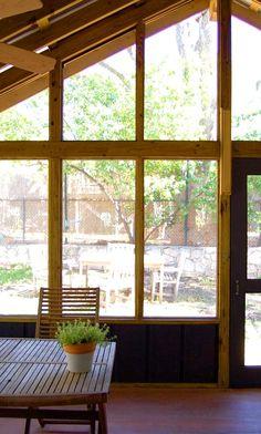 enclosed back porch