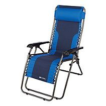 Two Toned Blue Zero Gravity Chair $49