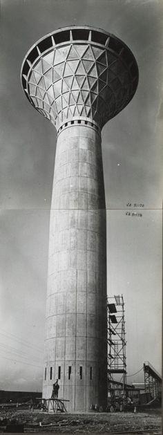 Water tower, Fiat factory, Turin, Pier Luigi Nervi, 1961-62