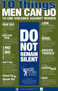 This isn't just a woman's issue- men, we need you too. This affects EVERYONE. Maybe if the violence against women stopped, then the violence against men would also stop.