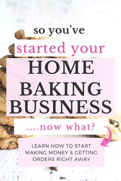 Learn how to grow your at home baking business after you've started it! How to grow your home bakery out of its beginning stages into a succesful business. Home Bakery Business, Baking Business, Catering Business, Cake Business, Business Planning, Business Tips, Business Motivation, Home Baking, Baking Tips