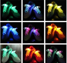 2016 Flash Light UP LED Shoelaces Eye-catching Disco Party Glow Stick Strap