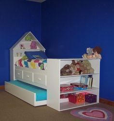 Find This Pin And More On Boys Room Custom Solid Wood Twin Bed With Dollhouse Bookcase Headboard