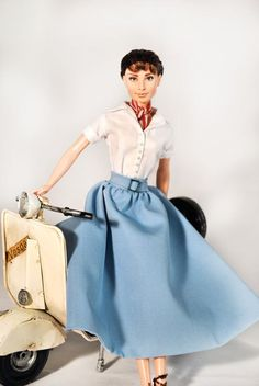 Audrey Hepburn OOAK Barbie Doll by Magia 2000