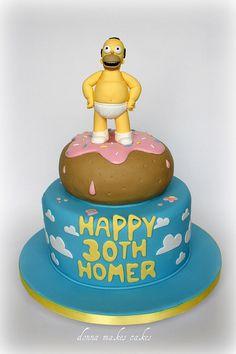 Homer Donut Cake it looks cool