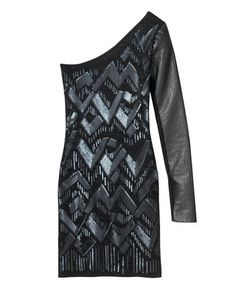 Leather-detail cotton and viscose dress, Charlotte Ronson, $325, at Charlotte Ronson, NYC