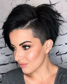 Today we have the most stylish 86 Cute Short Pixie Haircuts. We claim that you have never seen such elegant and eye-catching short hairstyles before. Pixie haircut, of course, offers a lot of options for the hair of the ladies'… Continue Reading → Edgy Pixie Haircuts, Pixie Bob Haircut, Haircut For Thick Hair, Cut My Hair, Hairstyles Haircuts, Cool Hairstyles, Undercut Pixie, Bob Haircuts, Summer Hairstyles