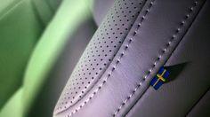 The New VOLVO S90 Interior detail - Sweden flag