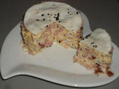 Mille-feuille oeuf/jambon/tomates / La cuisine de Fanie Pancakes, Bread, Cheese, Breakfast, Recipes, Html, Food, Dukan Diet, Skimmed Milk