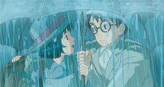 "Naoko and Jiro walking through the rain - ""The Wind Rises"" (2013)"