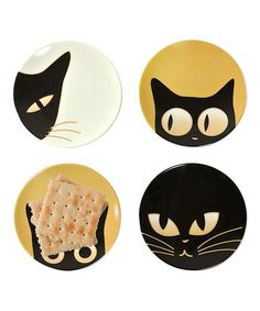 "Another great find on #zulily! Cat Eyes 3.5"" Mini Plate Set #zulilyfinds"