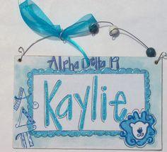Hand personalized greek sorority Kappa Alpha by pinkfishstudios, $10.00