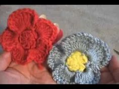 Learn to crochet pansy flower variation 1