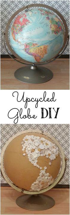 Naked Button Globe - A DIY Globe Upcycle