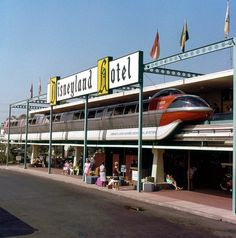 Daily Vintage Disneyland: The Disneyland Hotel Monorail Station Facebook: https://www.facebook.com/mickeyphotosdisneyland