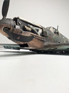 Mother nature always wins (Downed Bf-109)   Scale model   Diorama   Vignettes