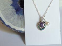 Opal/Amethyst Necklace Opal Necklace Amethyst by AlwaysCrafty77, $28.00