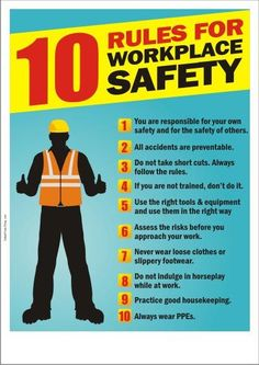 Great poster for work place safety, Many accidents can be prevented with a little thought (https://uk.pinterest.com/pin/574138652468598470/ …)