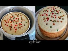 Cake recipe in cooker | Eggless suji cake recipe without oven | Rava cake | Semolina cake - YouTube