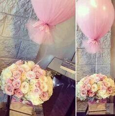 A very pretty idea, a balloon covered in tulle...an for a weddings and birthdays