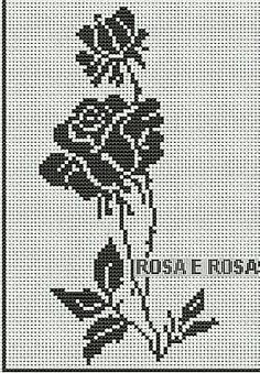I could use this pattern for cross-stitch or knitting. Cross Stitch Rose, Cross Stitch Flowers, Cross Stitch Charts, Cross Stitch Designs, Cross Stitch Patterns, Crochet Curtains, Tapestry Crochet, Crochet Motif, Crochet Stitches