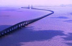 One of the longest bridges in the world, Donghai Bridge, Shanghai to China