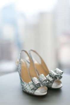 Wedding day heels - Kate Spade silver charm heels
