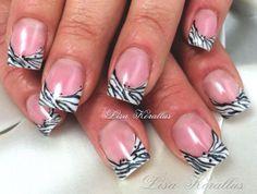 Pink and whites gel enhancement. #pinkandwhites #frenchnails #gelnails #nailart #handpaintednails #naildesign #nails #lisakorallus #liquidglamour #nailpictures #nailsofpinterest  #zebra  #lisasaltiel #lisamariesaltiel