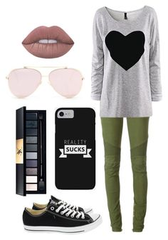 """Untitled #141"" by dancequeen247 ❤ liked on Polyvore featuring Balmain and Converse"