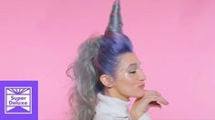 This new unicorn hair tutorial includes a horn along with magical rainbow-dyed hair. We want unicorn hair, we want it now!