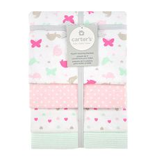 """Carter's Butterfly Dot 4-Pack Receiving Blankets - Triboro Quilt Co. - Babies """"R"""" Us"""