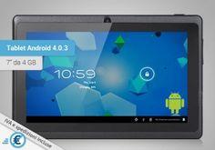 Tablet Android 4.0.3, colore Dark-Grey, 7 pollici, 4 Gb di memoria e Wi-Fi in un prodotto versatile a metà prezzo.