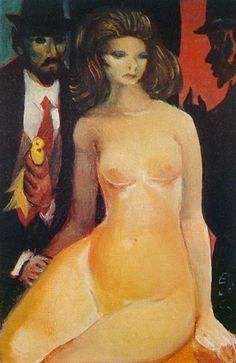 Nu e figuras, década de 1940 / Di Cavalcanti