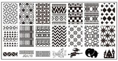 L Stamping Plate - Tribal