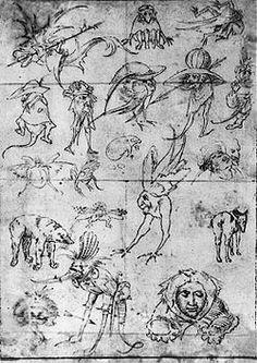 Studies of Monsters  Hieronymus Bosch